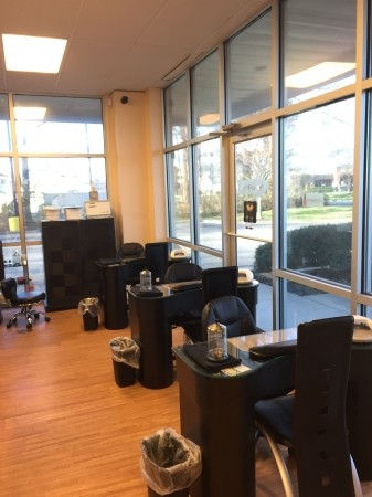 The Look Salon and Day Spa Manicure Station