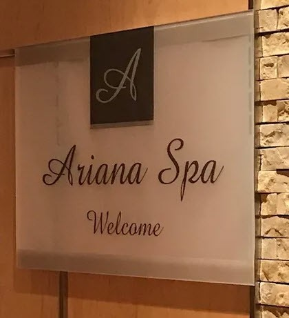 Ariana Spa Sign